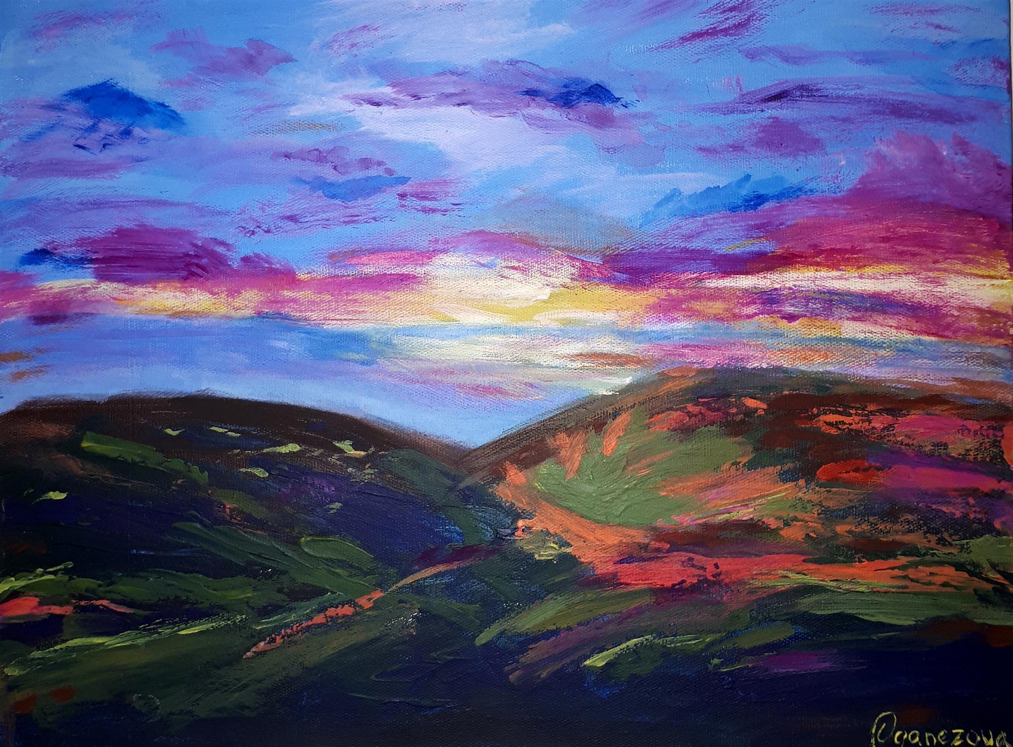 Hills Colours Kristina Oganezova Art